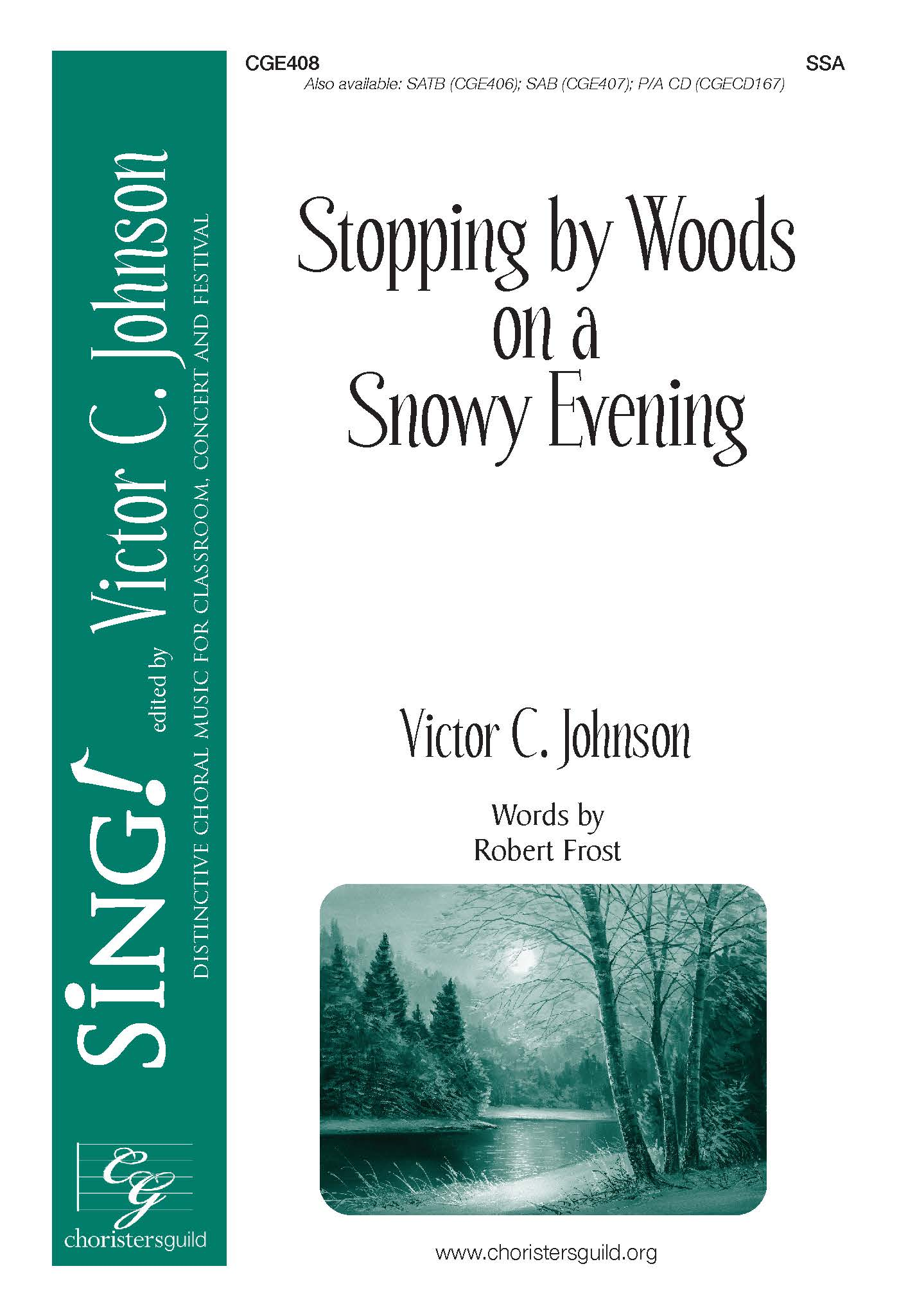 Stopping by Woods on a Snowy Evening - SSA