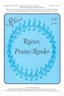 Rejoice, Praises Render (Auf, freue dich Seele) Full Score