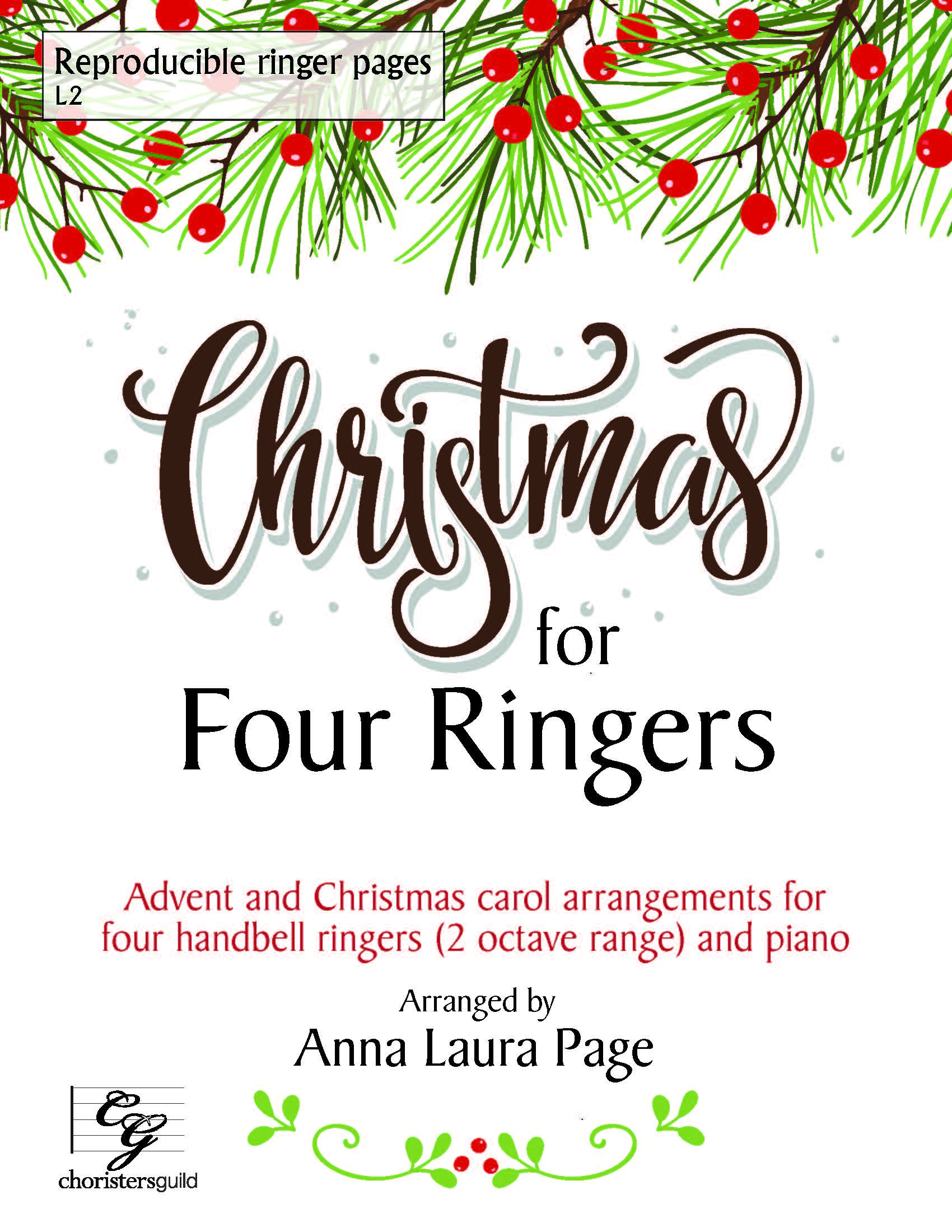 Christmas for Four Ringers (Reproducible) - 8 bells and Piano