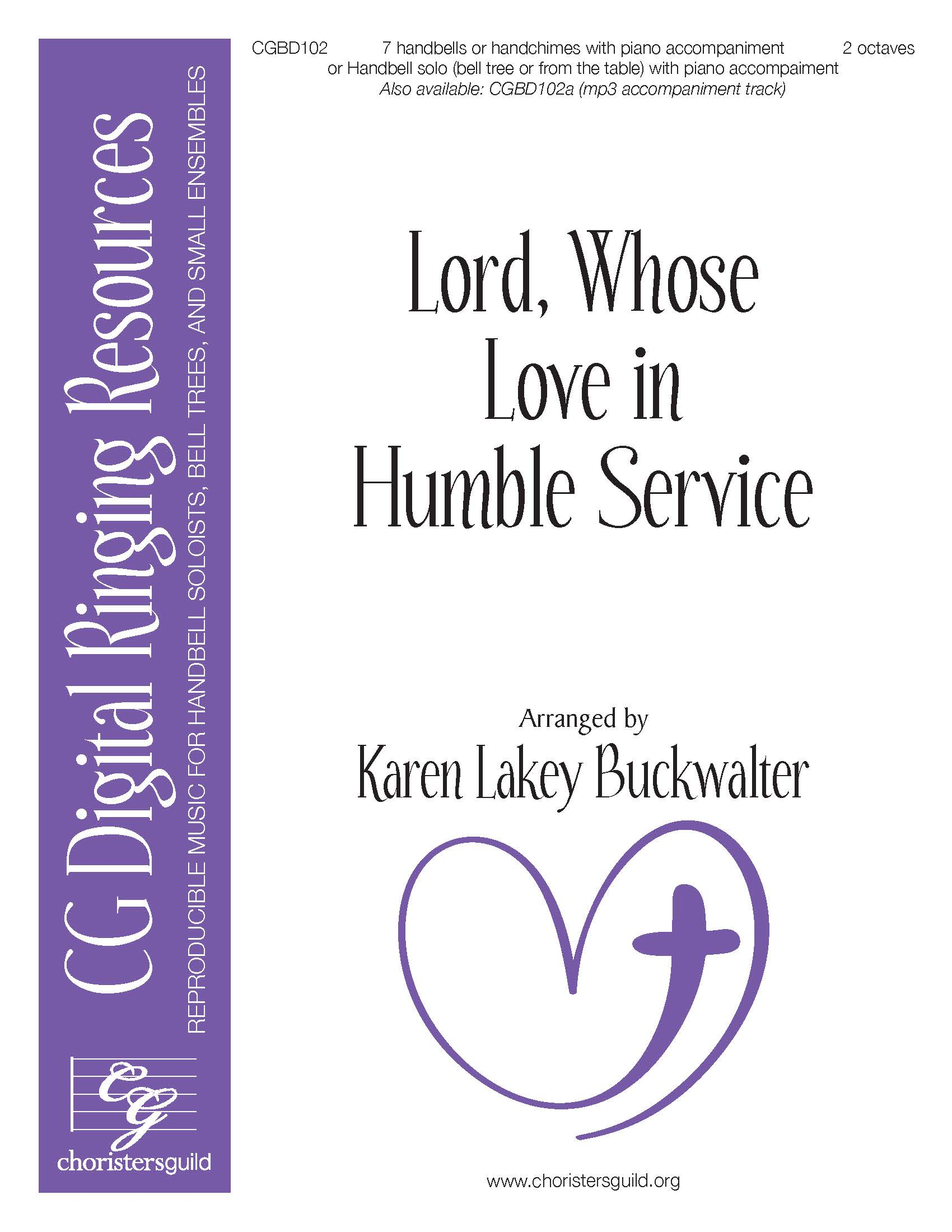 Lord, Whose Love in Humble Service - 7 bells (reproducible)