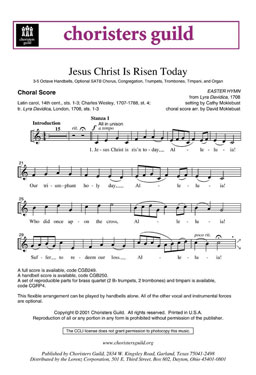 Jesus Christ Is Risen Today Choral Score