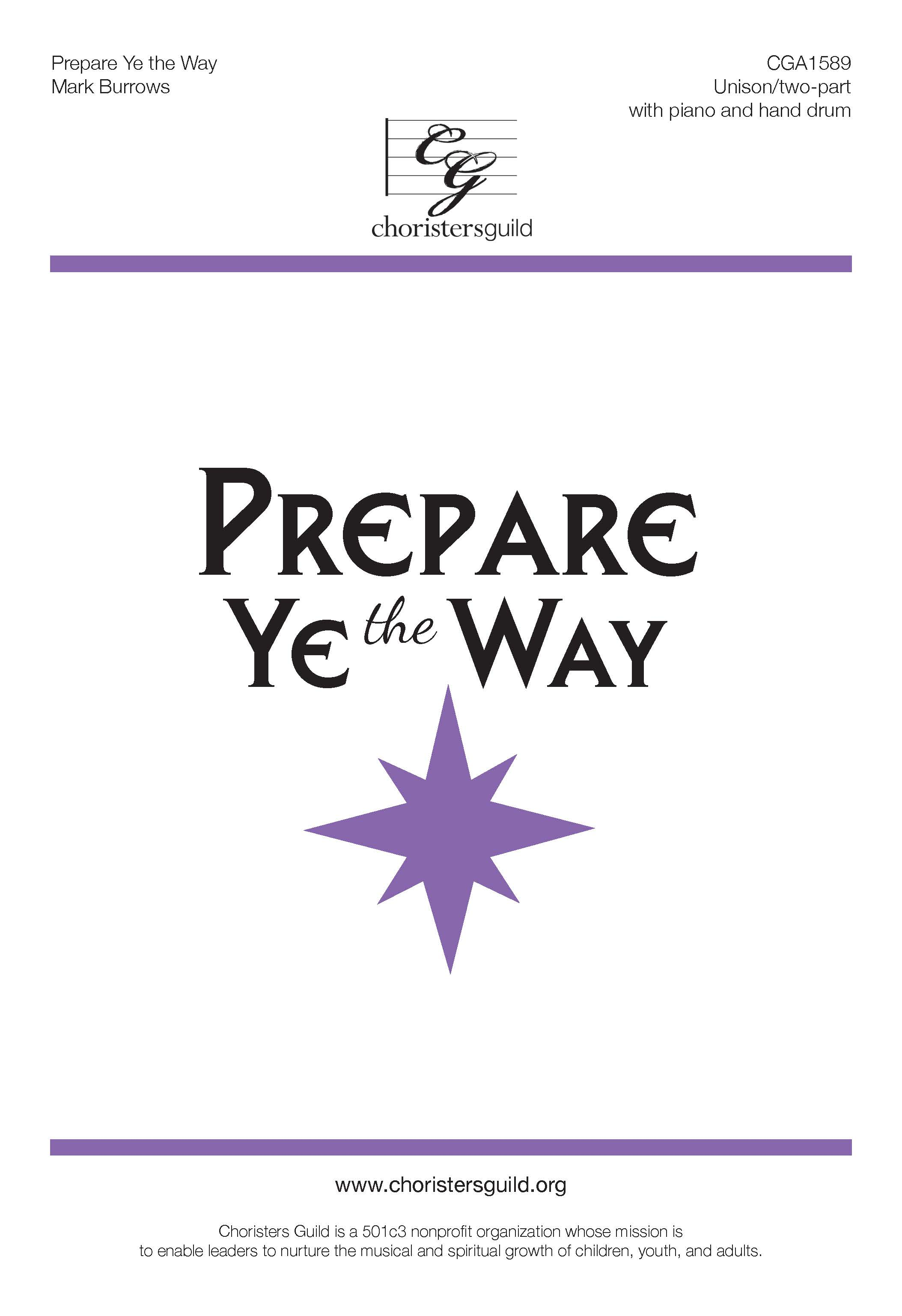 Prepare Ye the Way (Digital Download Accompaniment Track)