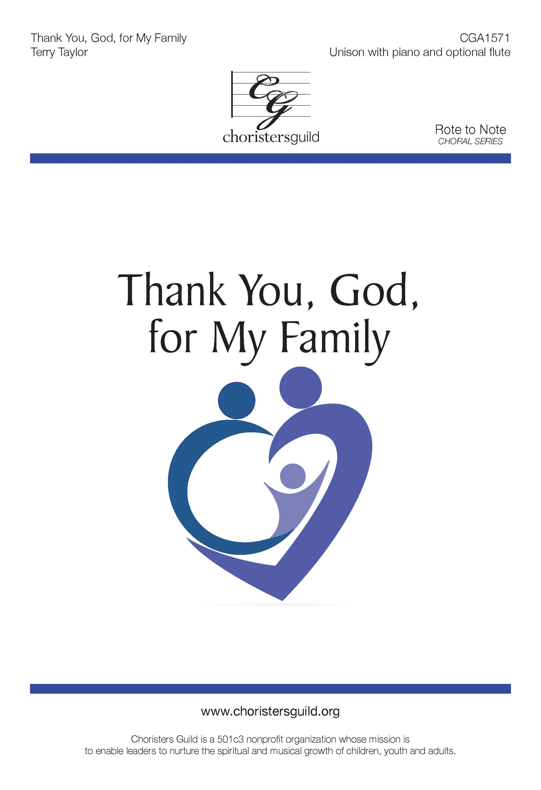 Thank You, God, for My Family (Digital Download Accompaniment Track)