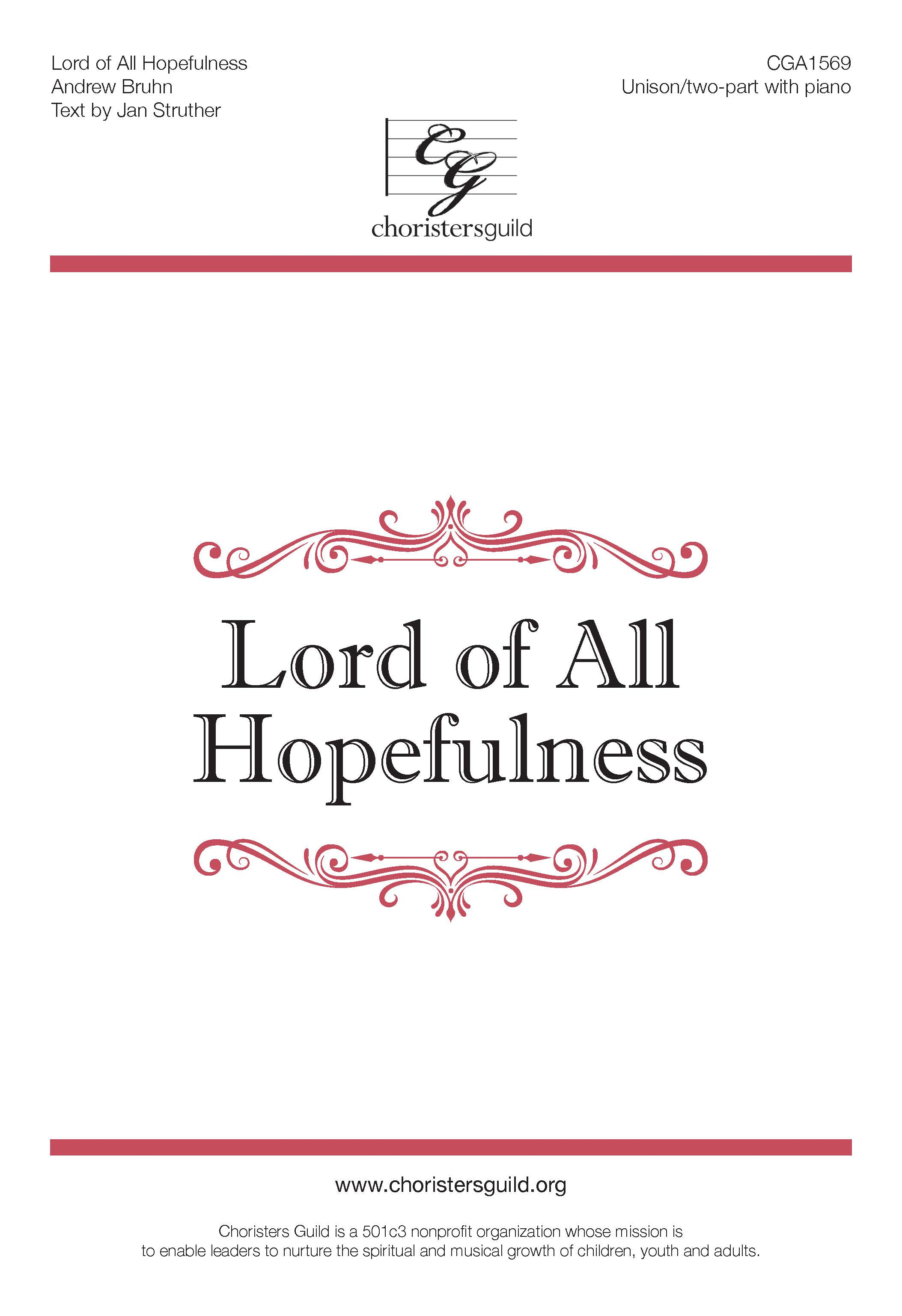 Lord of All Hopefulness (Digital Download Accompaniment Track)