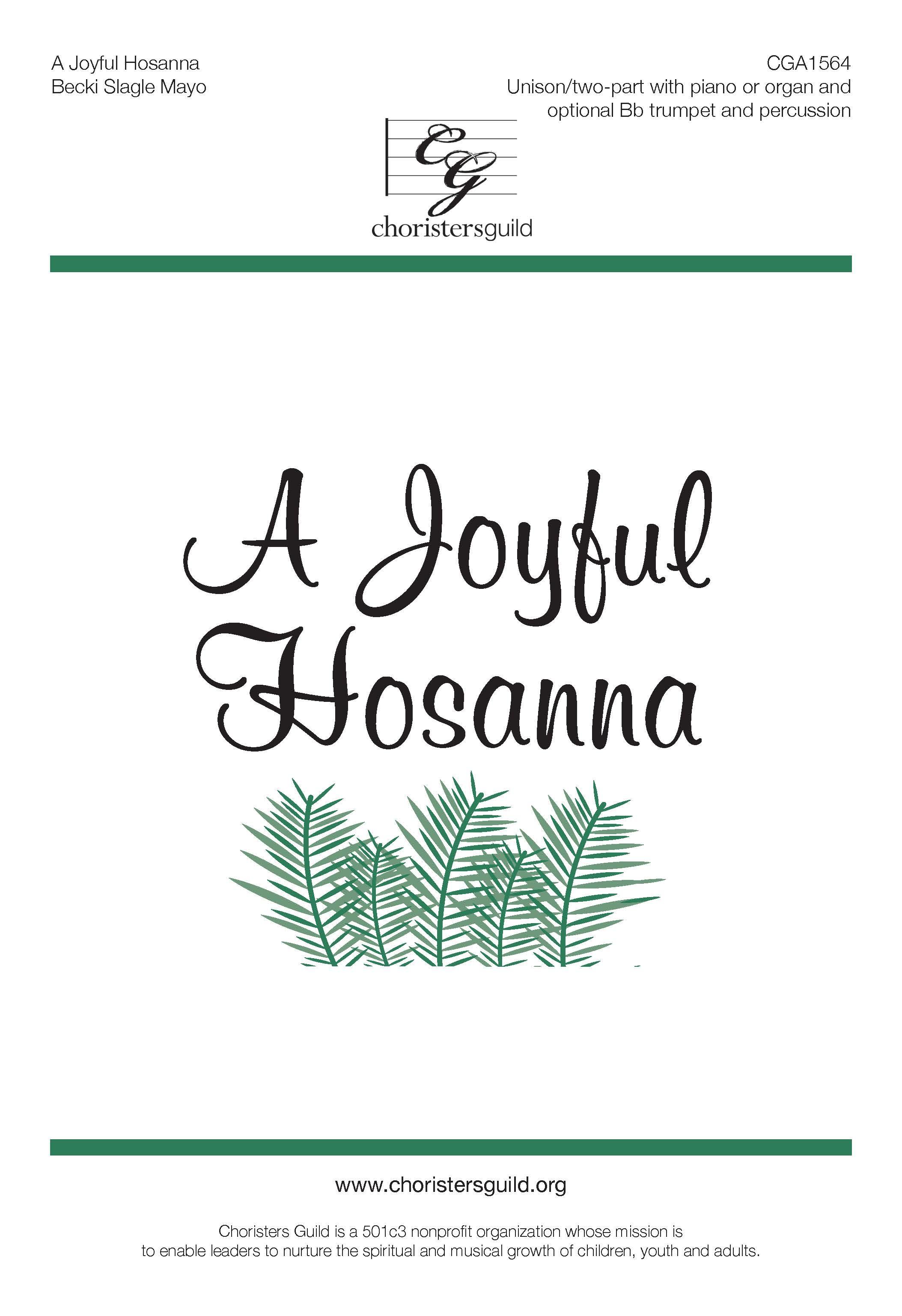 A Joyful Hosanna (Digital Download Accompaniment Track)