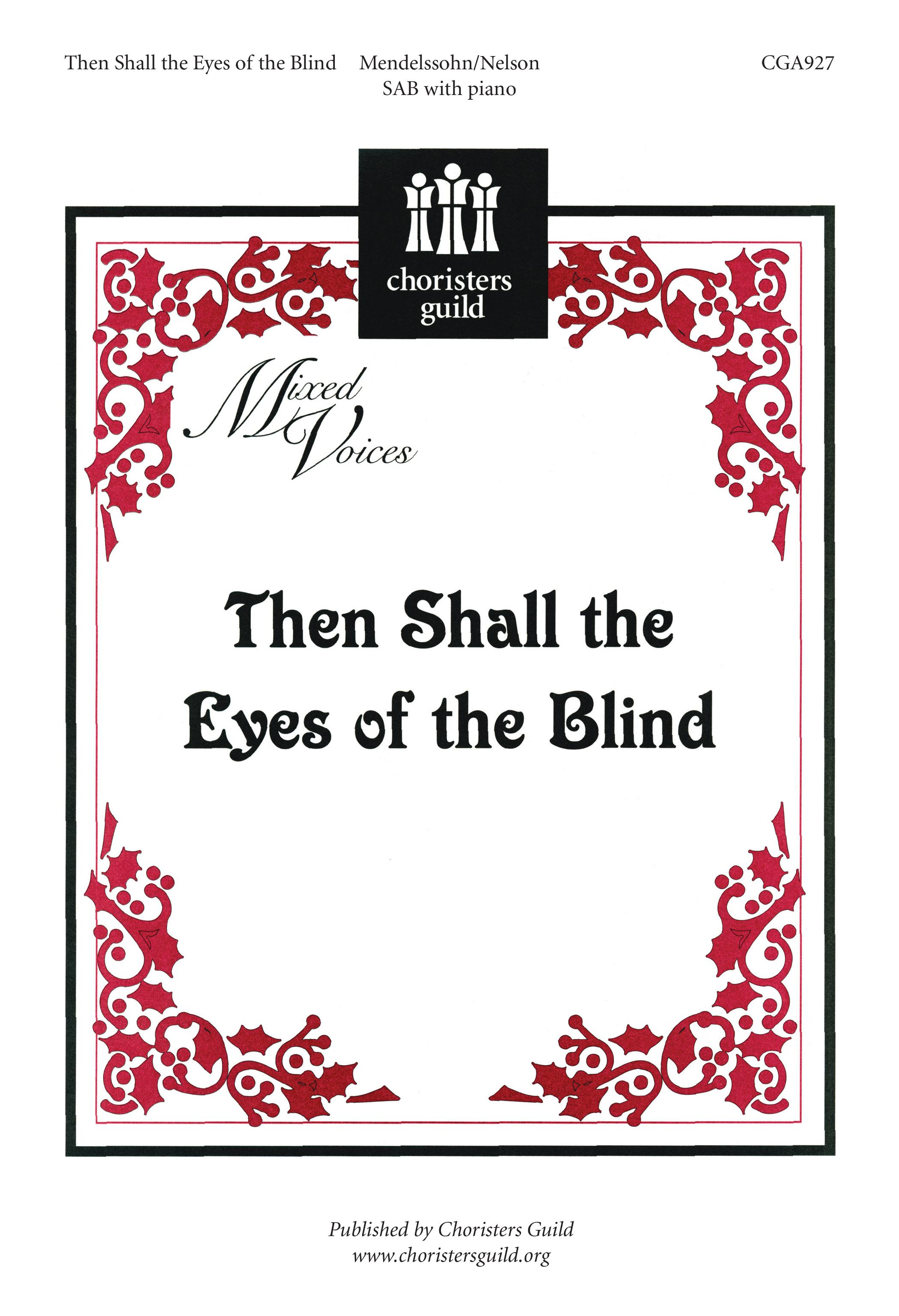Then Shall the Eyes of the Blind
