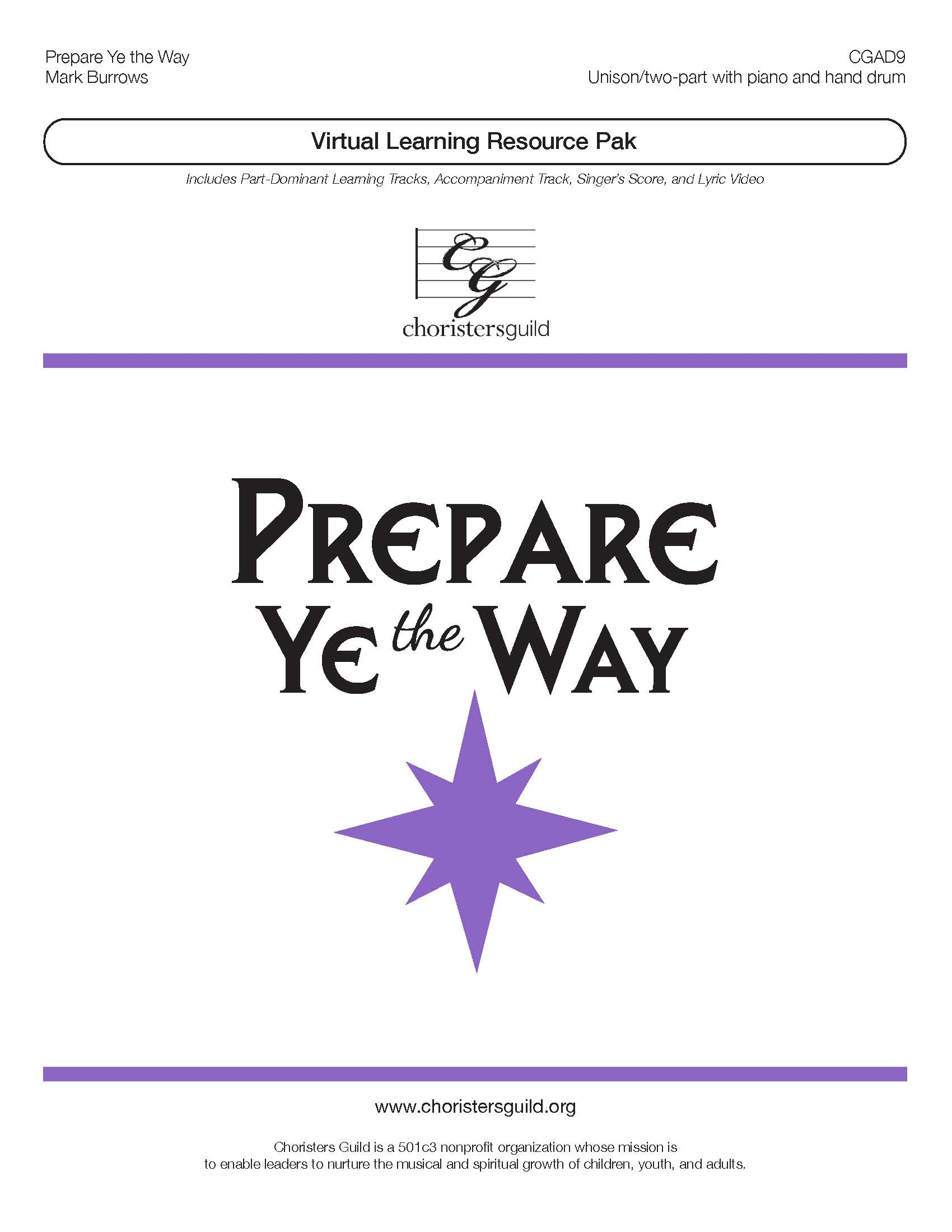 Prepare Ye the Way (Virtual Learning Resource Pak) - Two-part