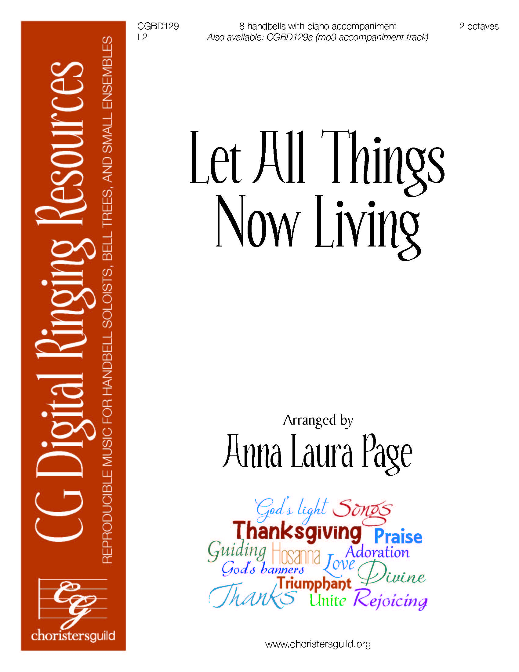 Let All Things Now Living (reproducible) - 8 bells