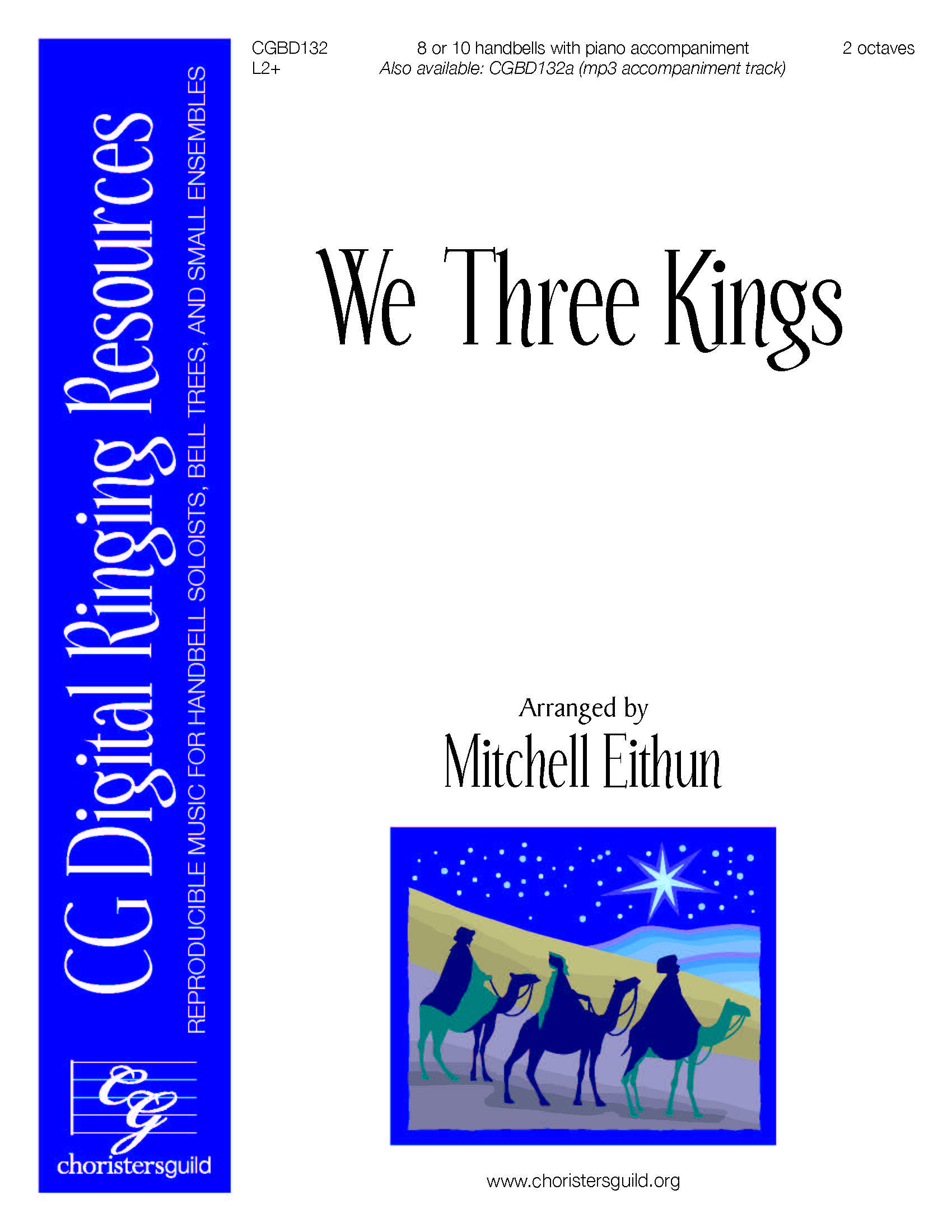 We Three Kings (reproducible) - 8-10 bells