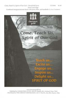 Come, Teach Us, Spirit of Our God Choral/Full Score