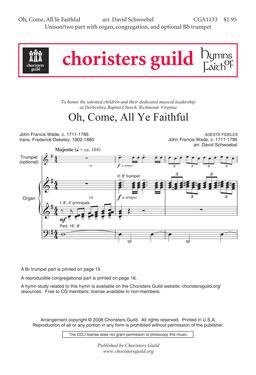 Oh, Come, All Ye Faithful (Accompaniment Track)