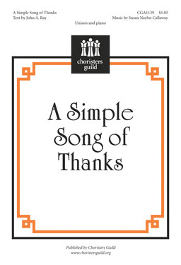 A Simple Song of Thanks Accompaniment Track