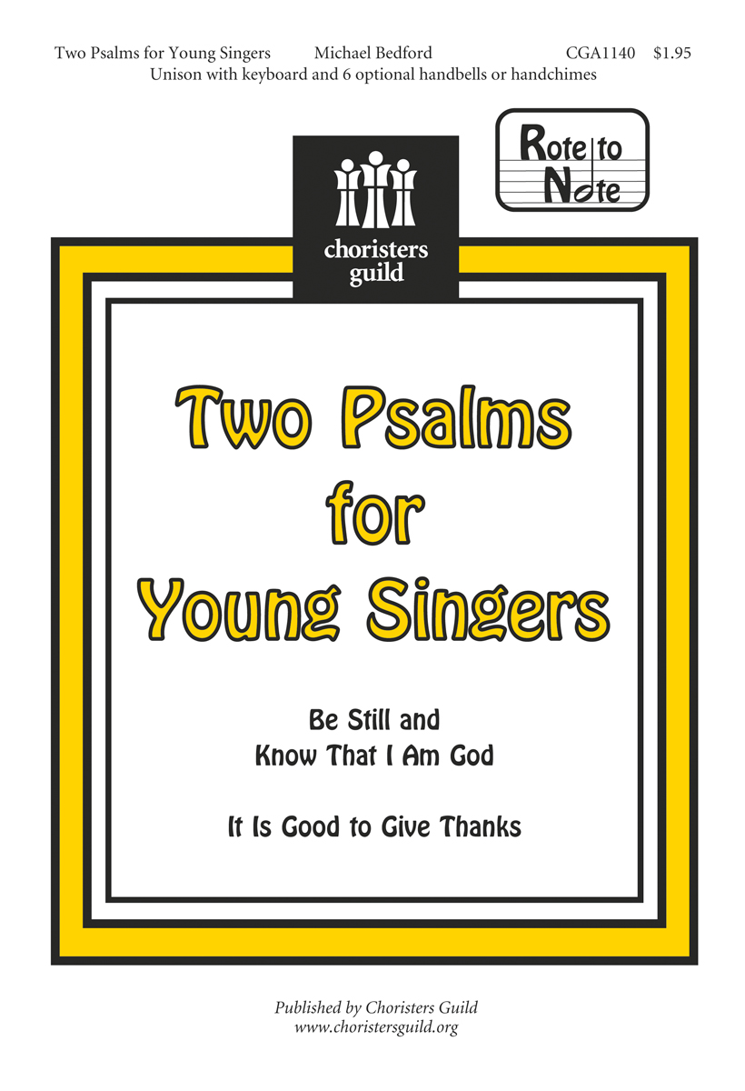 Two Psalms for Young Singers  Accompaniment Track