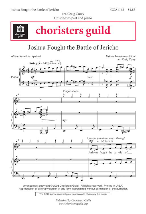 Joshua Fought the Battle of Jericho Accompaniment Track
