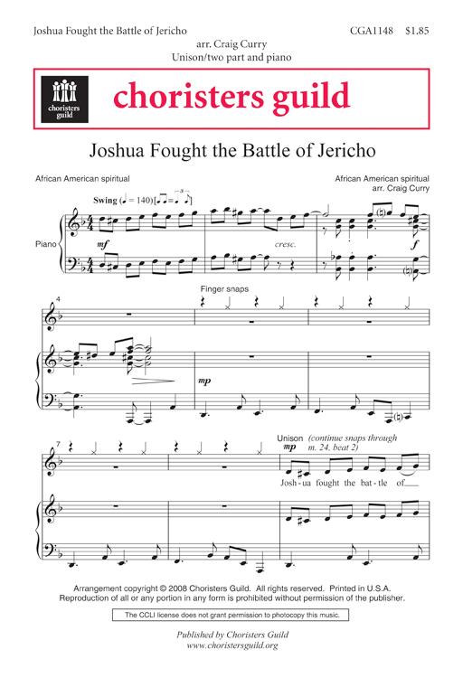 Joshua Fought the Battle of Jericho Accompaniment Track