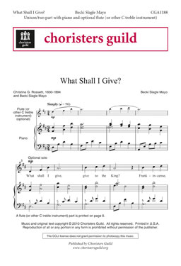 What Shall I Give? (Accompaniment Track)