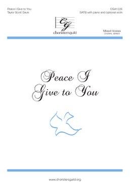 Peace I Give to You Accompaniment Track