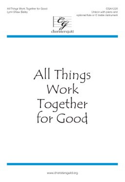 All Things Work Together for Good Accompaniment Track