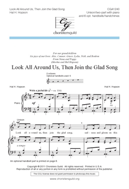 Look All Around Us, Then Join the Glad Song Accompaniment Track