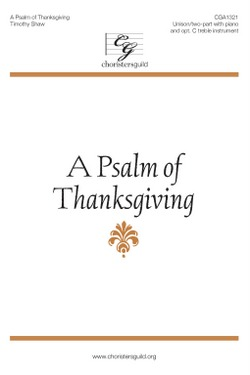 A Psalm of Thanksgiving Accompaniment Track