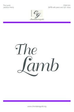 The Lamb Accompaniment Track
