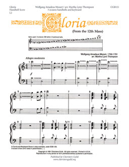 Gloria From the 12th Mass (Handbell Score)