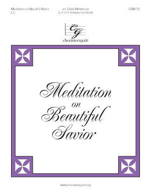 Meditation on Beautiful Savior (3, 4, or 5 octaves)
