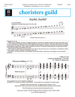 Joyful, Joyful (3, 4 or 5 octaves)