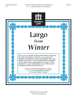 Largo from Winter (2 or 3 octaves)