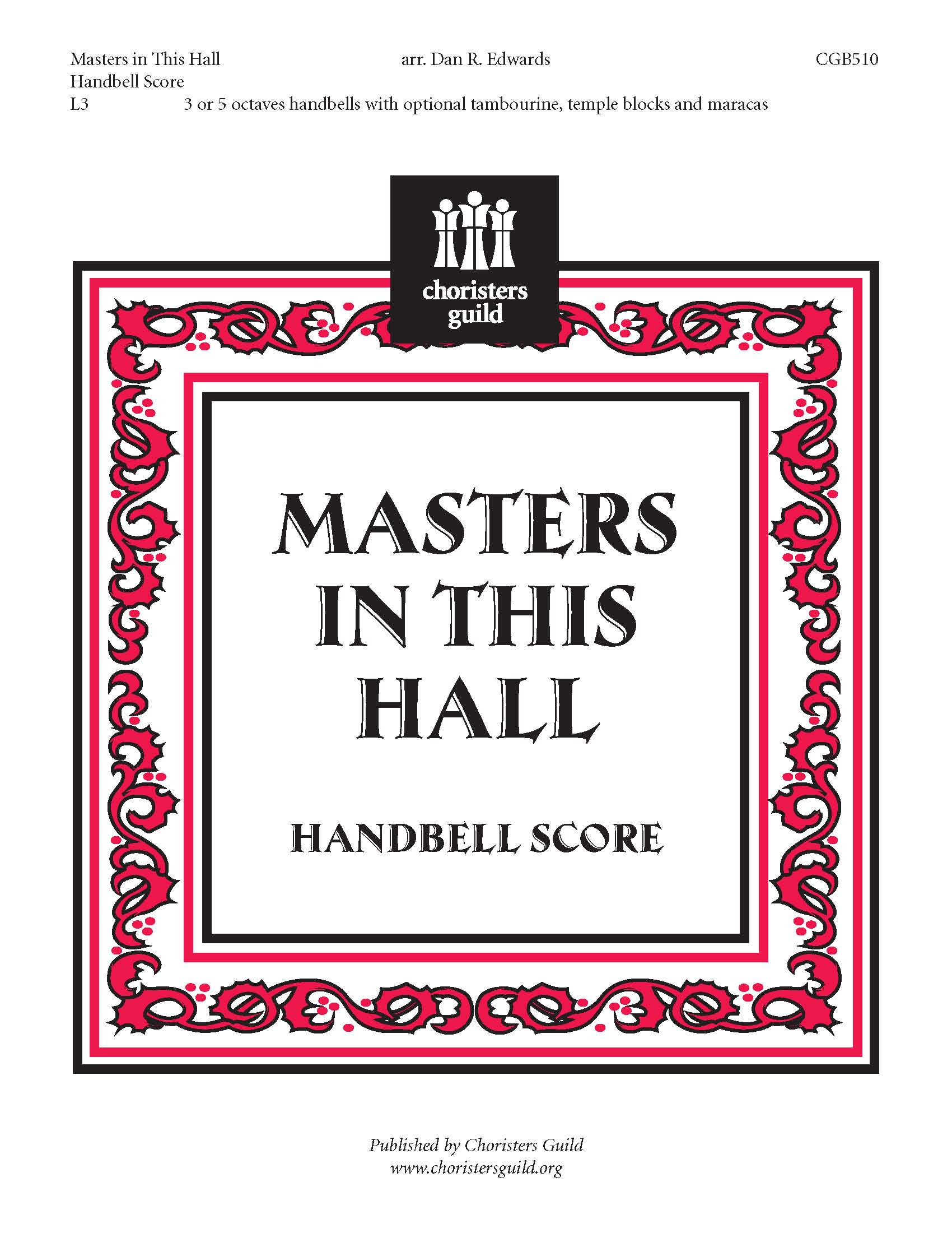 Masters in this Hall (Handbell Score)