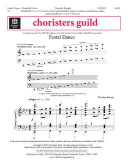 Festal Dance (Handbell Score)