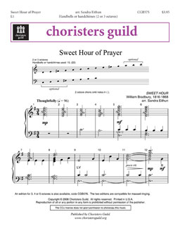 Sweet Hour of Prayer (2 or 3 octaves)