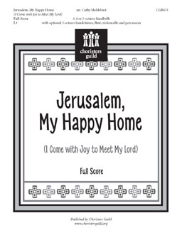 Jerusalem, My Happy Home Full Score