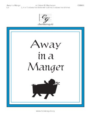 Away in a Manger (3, 4 or 5 octaves)