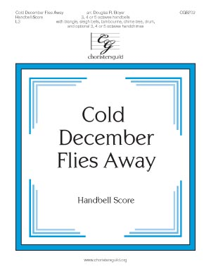 Cold December Flies Away - Handbell Score