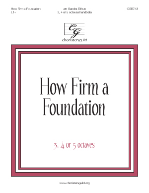How Firm a Foundation (3, 4 or 5 octaves)