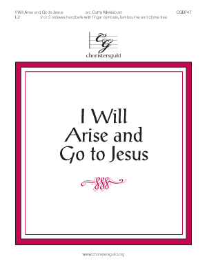 I Will Arise and Go to Jesus (2 or 3 octaves)