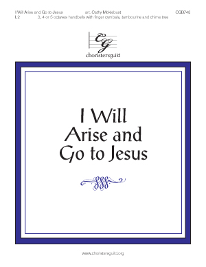 I Will Arise and Go to Jesus (3, 4 or 5 octaves)