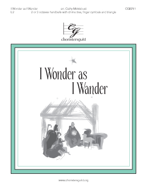 I Wonder as I Wander (2 or 3 octaves)