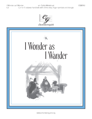 I Wonder as I Wander (3, 4 or 5 octaves)