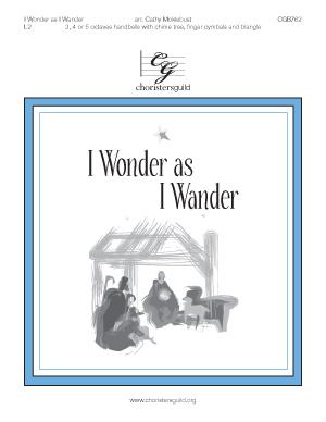 I Wonder as I Wander (3, 4 or 5 octaves)