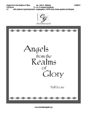 Angels from the Realms of Glory - Full Score