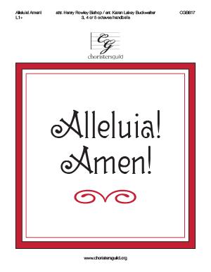 Alleluia! Amen!
