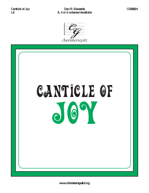 Canticle of Joy (3, 4 or 5 octaves)