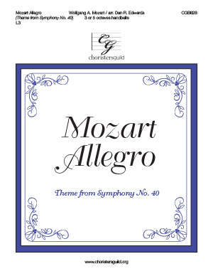 Mozart Allegro (Theme from Symphony No. 40)