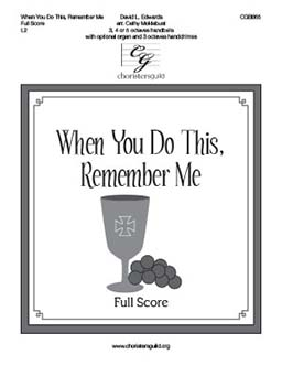 When You Do This, Remember Me - Full Score
