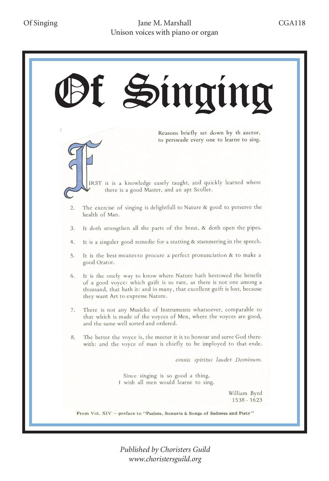 Of Singing