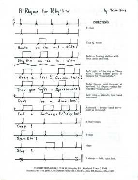 A Rhyme for Rhythm and A Rhythmic Posture Chant