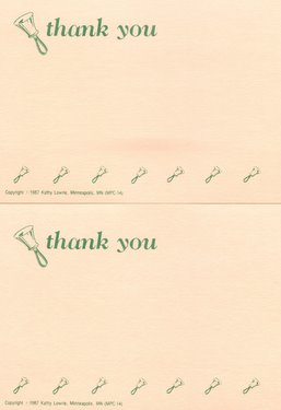 CGPC14 12 Thank You Handbell Postcards 12 pack