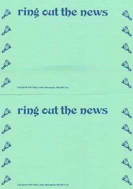 CGPC16 12 Ring Out the News Handbell Postcards 12 pack